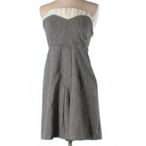 Urban Outfitters strapless gray dress